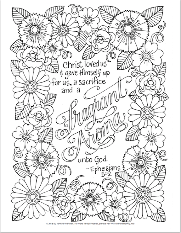 Free Scripture Based Coloring Pages From Flandersfamily Info