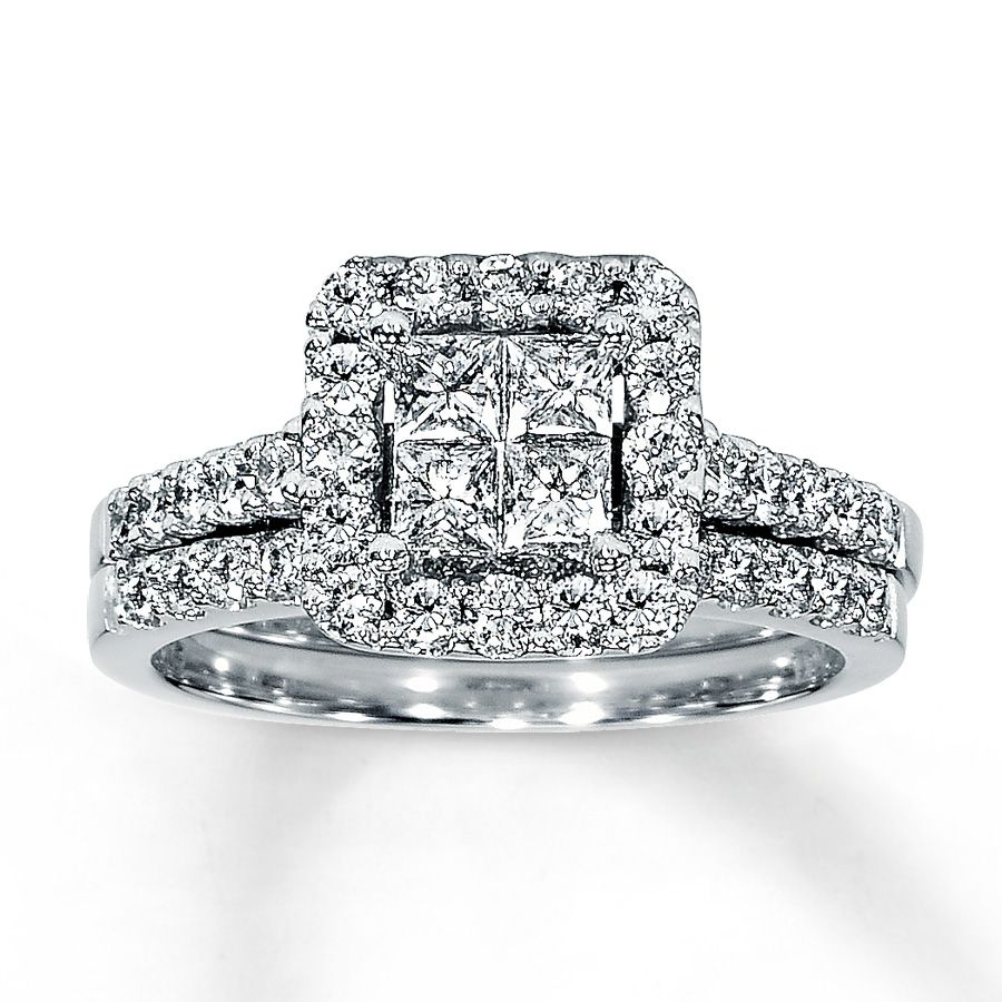 Jared the galleria of jewelry diamond bridal set 1 15 ct tw 14k