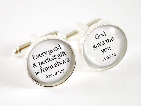 Bible verse Every good gift is from above personalized groom wedding ...