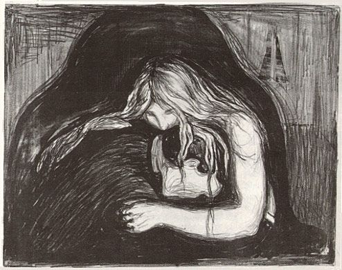 Edvard Munch- Vampire, 1902. Woodcut and lithograph ... - photo#4