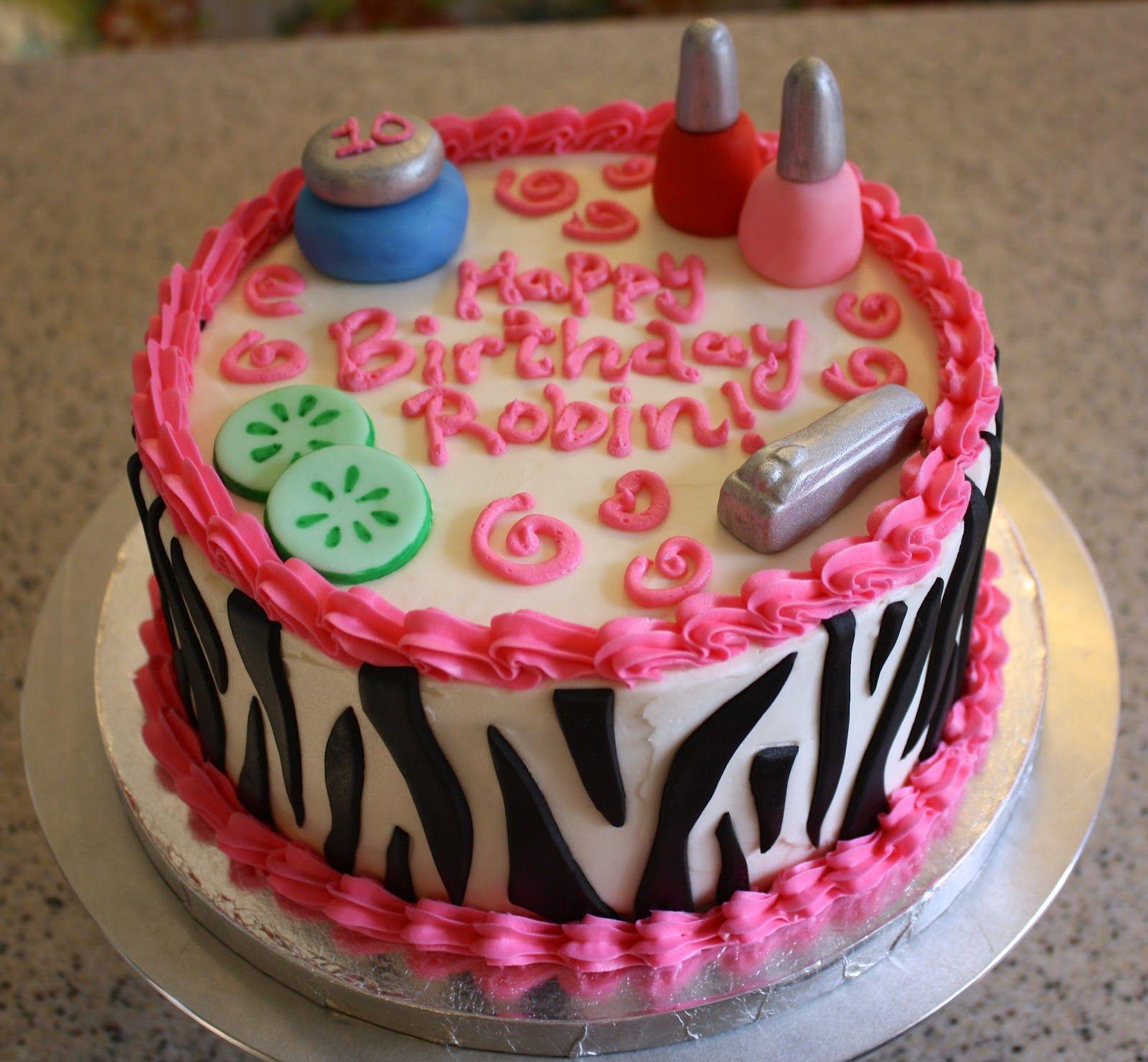 Terrific Dazzle Cakes With Images Spa Birthday Cake Spa Party Cakes Personalised Birthday Cards Xaembasilily Jamesorg