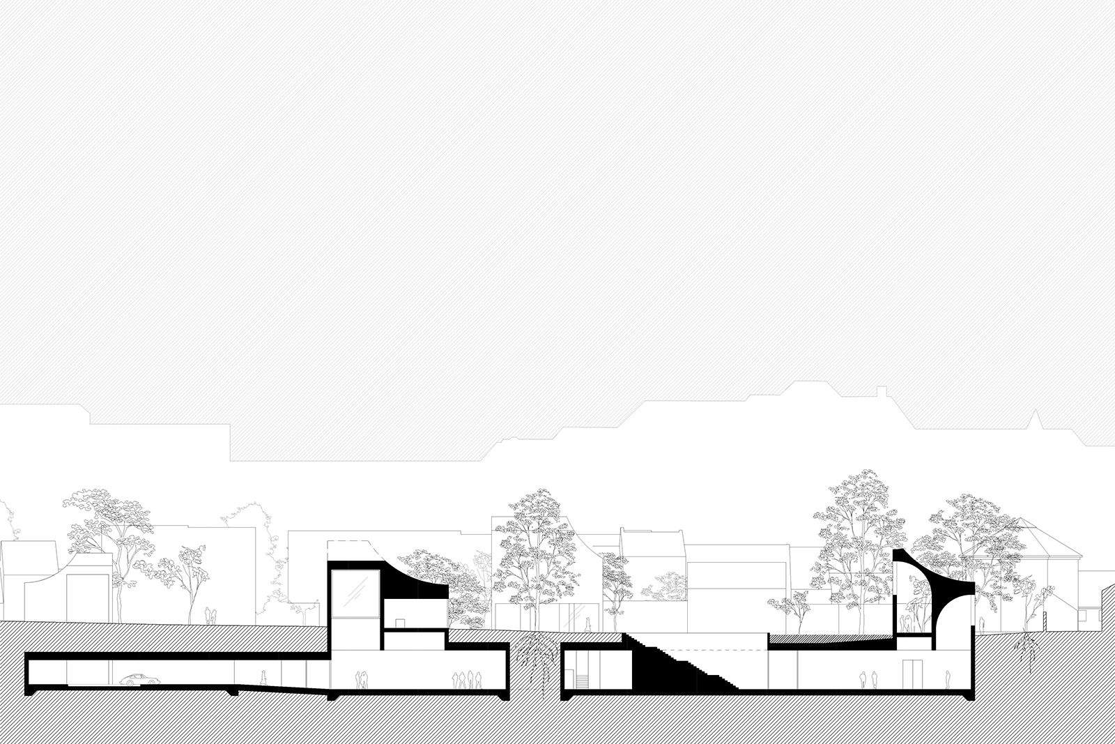 """H C ANDERSEN MUSEUMPublic building and park, Odense, Denmark, 2014Competition, 2nd PrizeClients: Odense City Museums and RealdaniaSize: 3.500 sq mOur proposal """"One Garden, Seven Characters"""" reunites the fragmented site for the new Hans Christian..."""