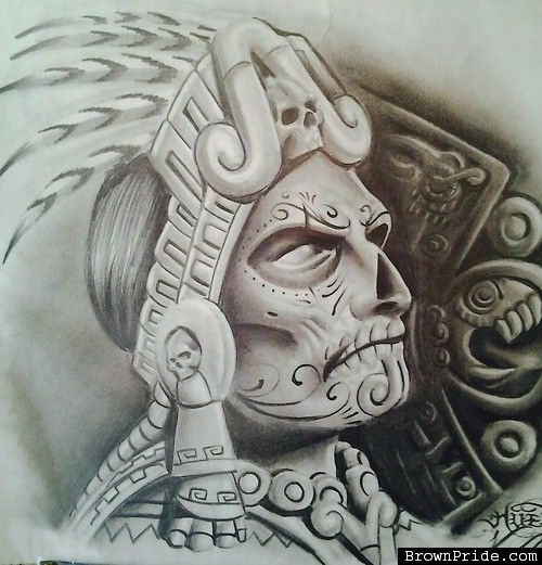 aztec chicano pride brown mexican tattoos arte drawings tattoo warrior lowrider designs drawing azteca skull culture mexica flash chicanos dibujos