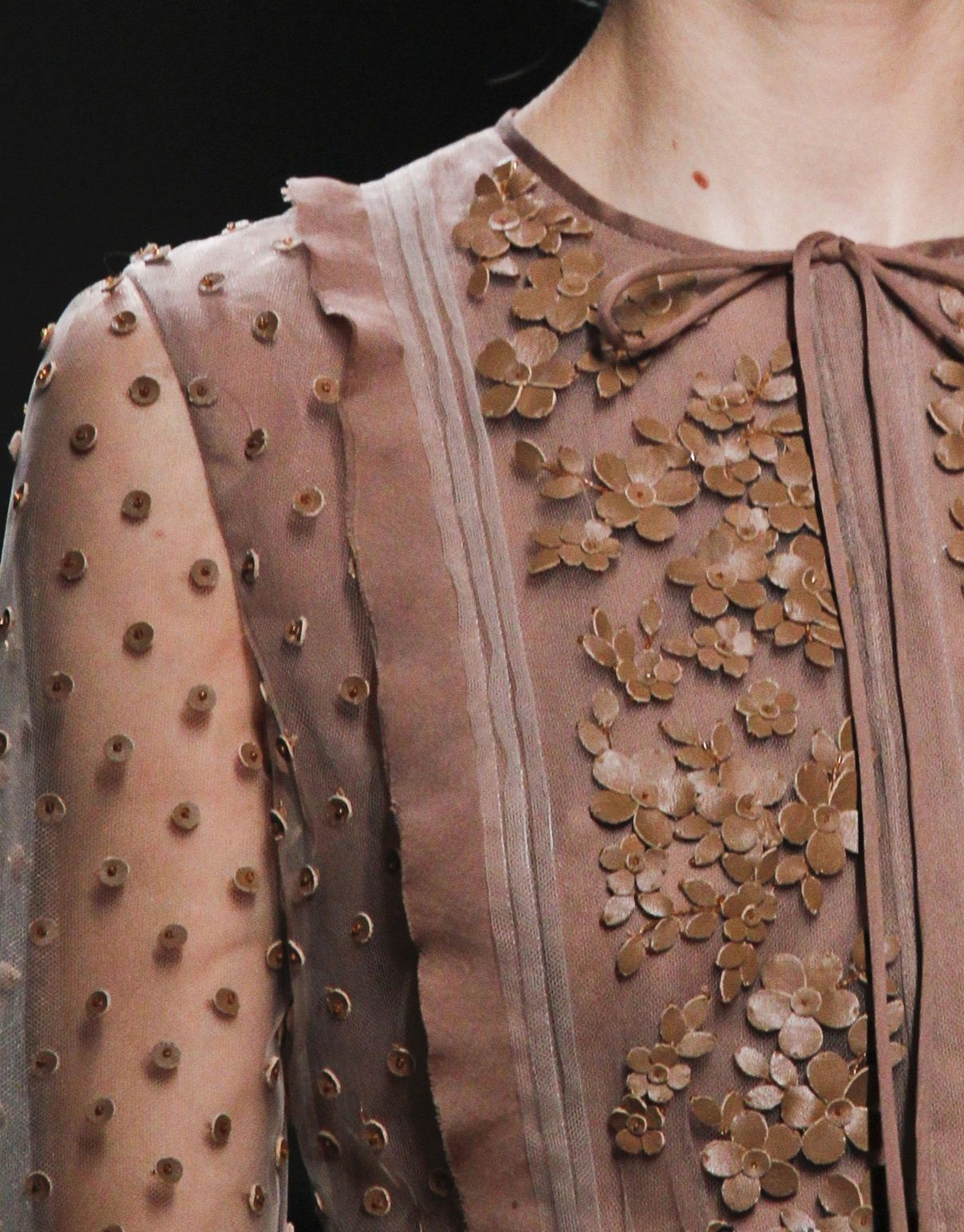 valentino... like the varying textures and fabric design differences with apllicaies added