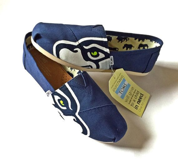 Seahawks TOMS Shoes by ShopWildRose on Etsy