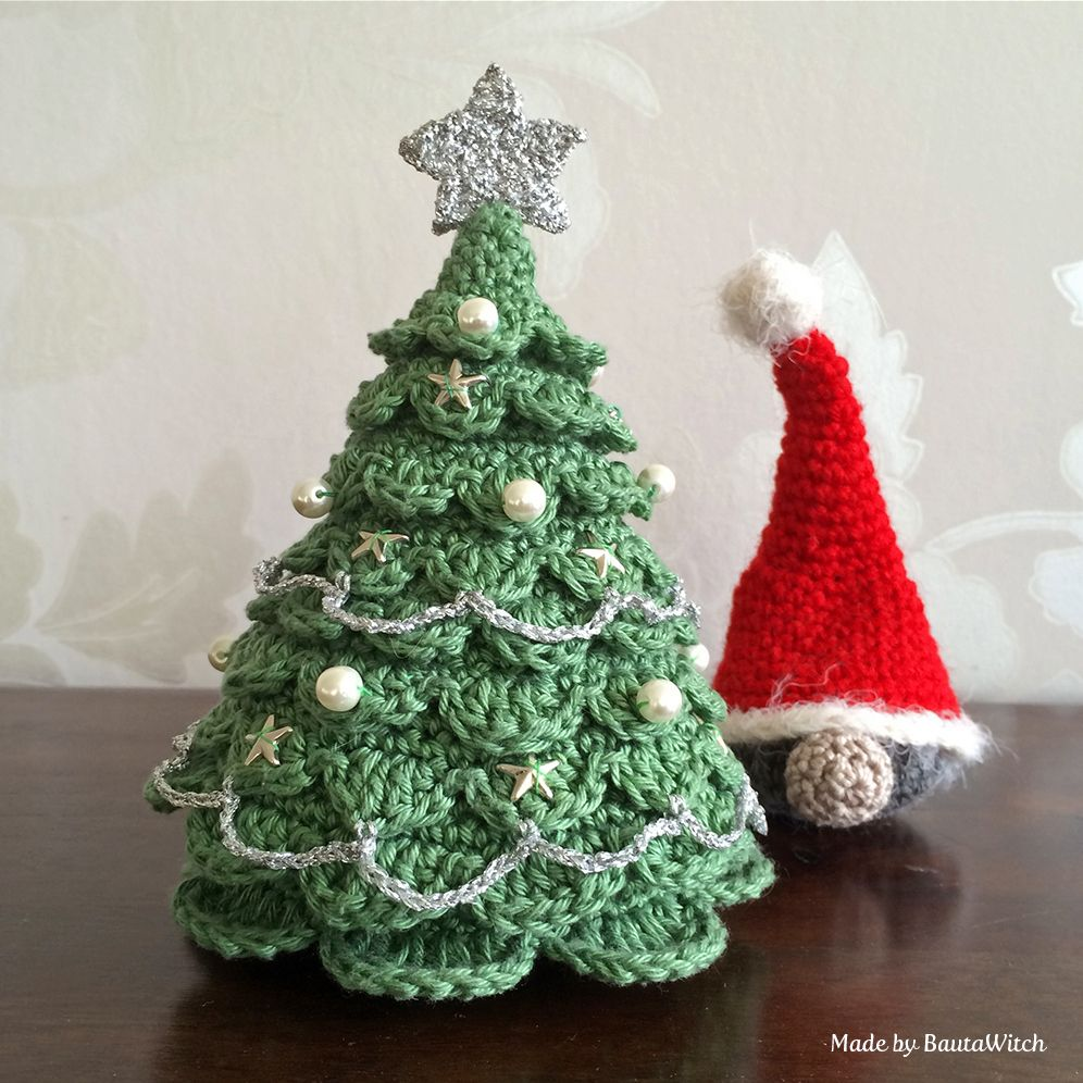 Free crochet christmas tree ornament patterns - Crochet Christmas Tree And Santa Made By Bautawitch Free Pattern
