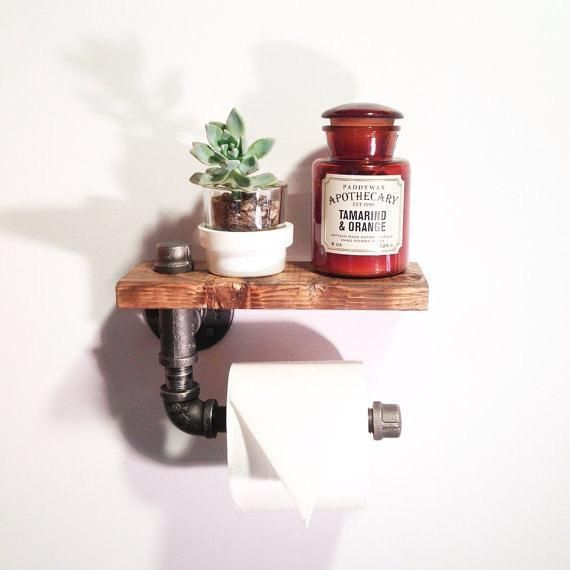 Photo of Industrial Bathroom toilet paper holder- Rustic home decor – Steampunk bathroom …