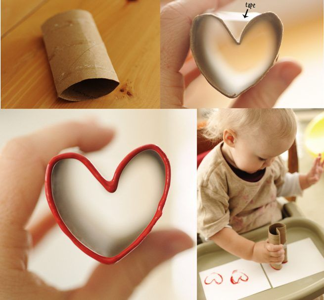 Valentines Day crafts for kids toddlers toilet paper rolls cards – Easy Valentine Cards for Kids