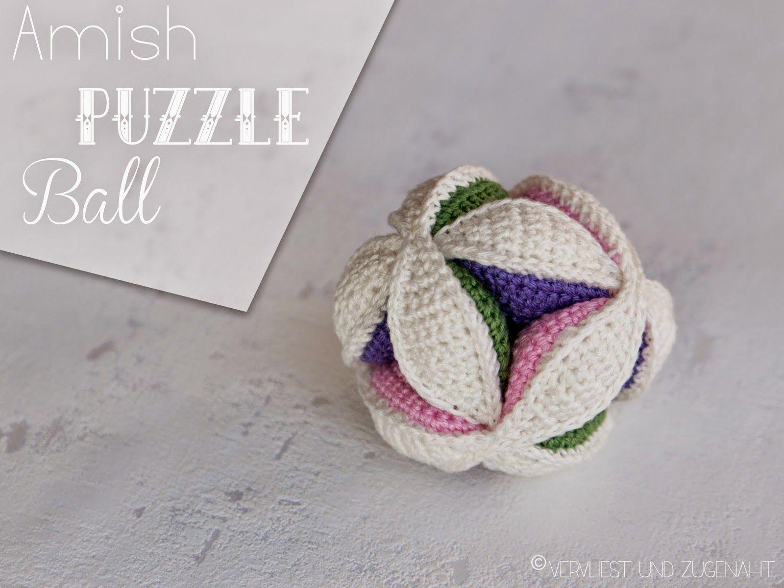 Amish Puzzle Ball Knit Pinterest Bälle Babys Und Häkeln