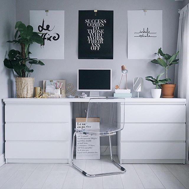 Ikea Bureau A Partir De 2 Commodes 1 Planche Mobilier De Salon