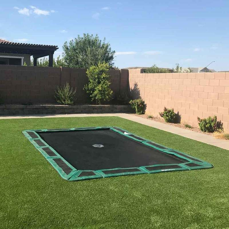 11ft x 8ft capital inground trampoline in 2020 in