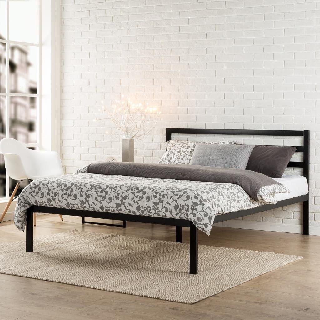 Zinus Modern Studio 14 Inch Platform 1500H Metal Bed Frame/Mattress ...