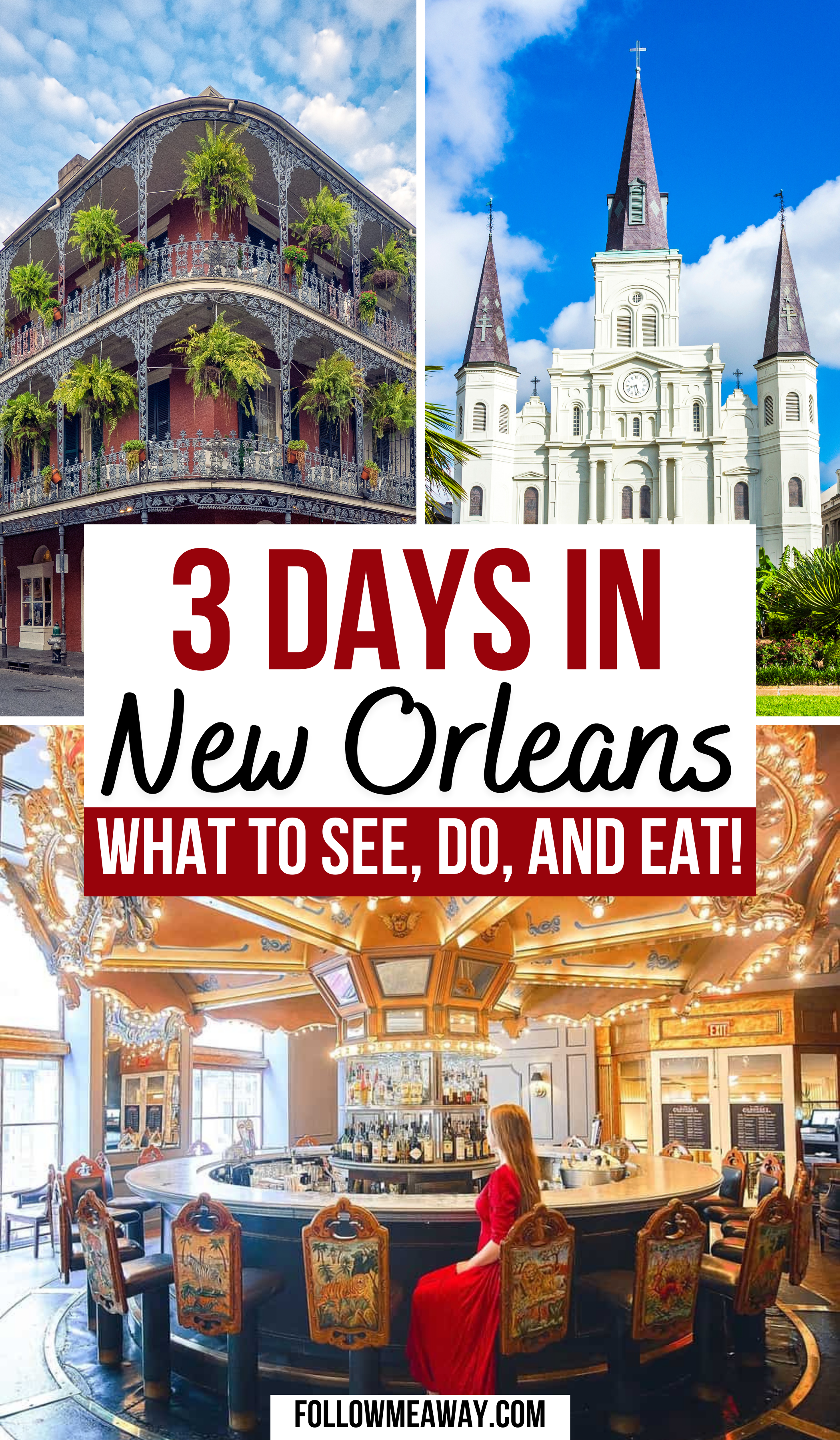 3 Days In New Orleans | Bucket list locations in New Orleans | beautiful locations in New Orleans | instagrammable locations in New Orleans | best instagram photo spots in New Orleans | best places to eat in New Orleans | cutest streets in New Orleans | travel guide for New Orleans | couples travel in New Orleans | tips for discovering New Orleans | traveling New Orleans like a pro | how to travel in NOLA | how to get around in NOLA | best places to see in NOLA | best places to stay in NOLA