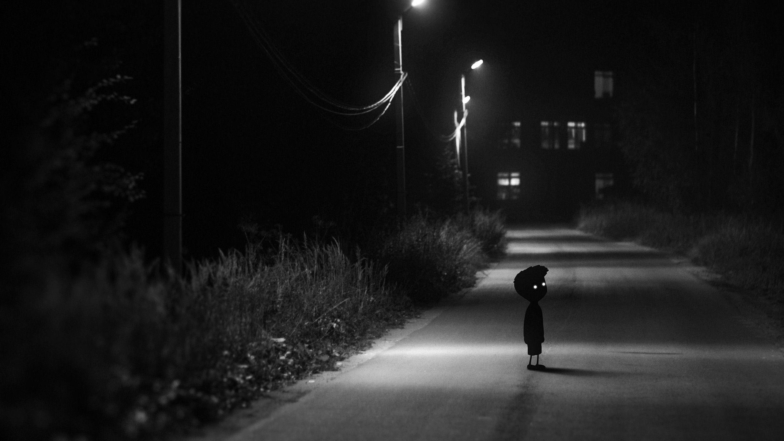 wandering alone at night - HD2560×1440
