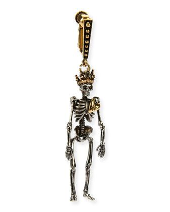 842ae6dd9aff Queen+Skeleton+Clip-On+Dangle+Earring+by+Alexander+McQueen+at+Neiman+Marcus.