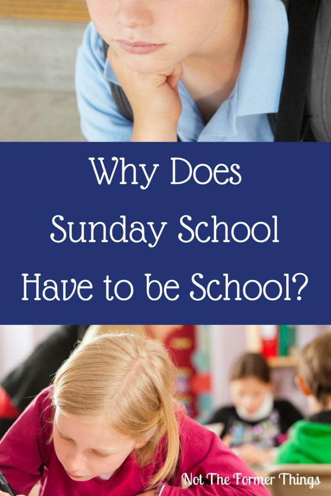 Why Does Special Education Have To Be >> Why Does Sunday School Have To Be School Special Needs