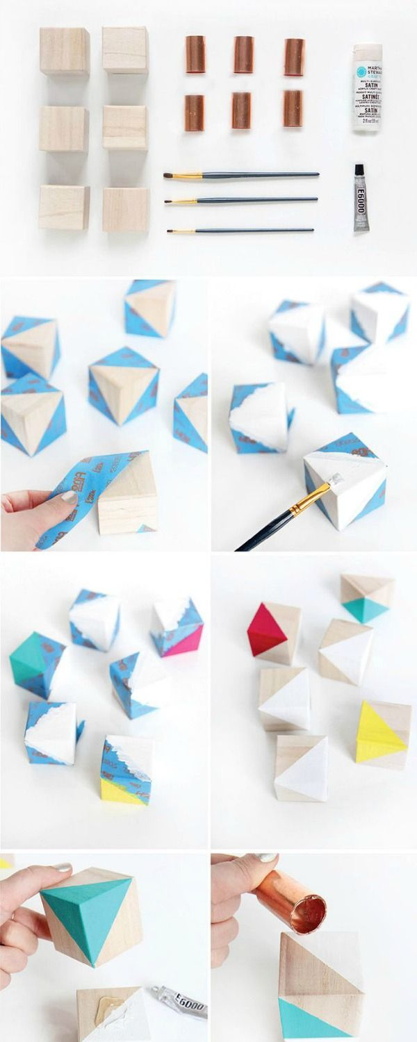How to: Make a Modern and Colorful Geometric Mobile | Modern, Craft ...