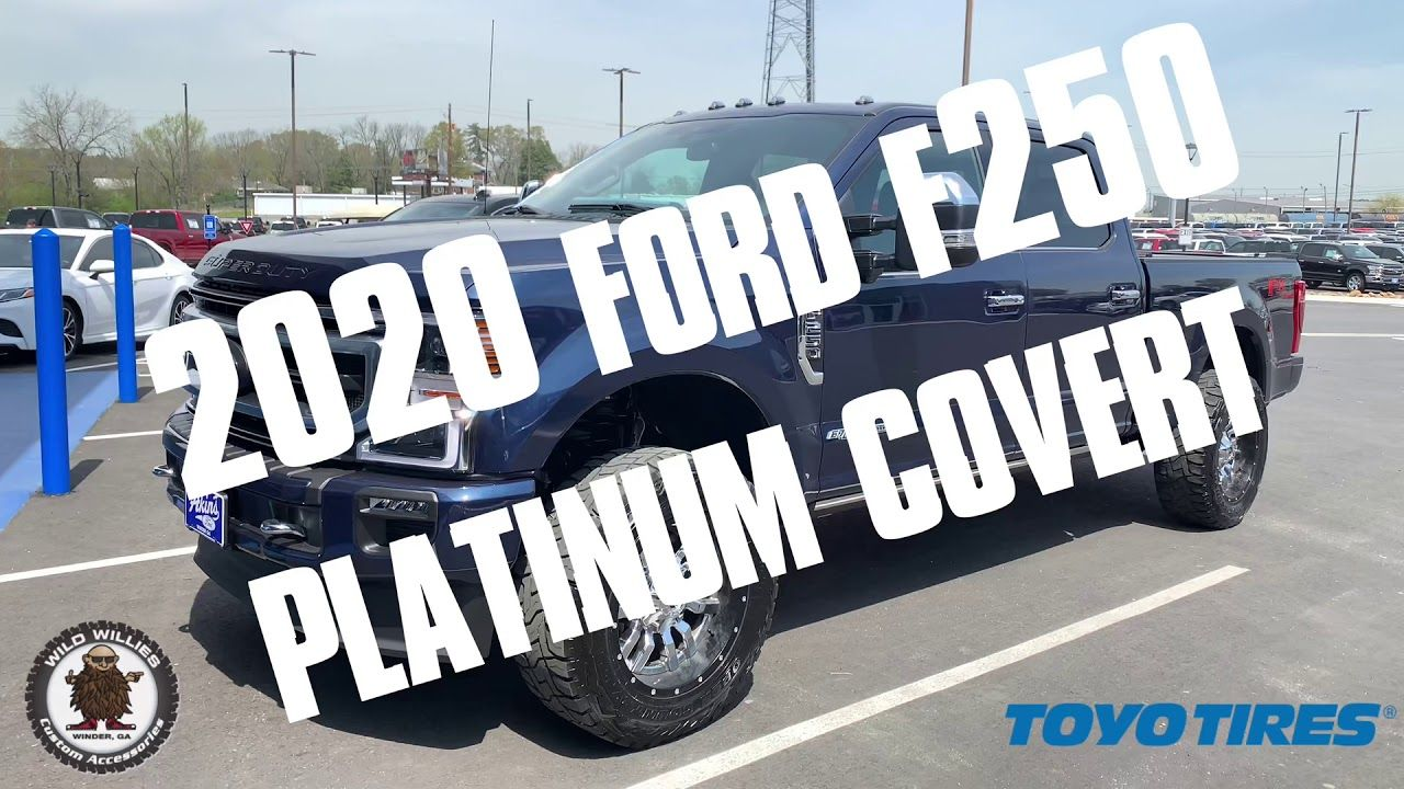 2020 Ford F250 Platinum Blue Jean Leveled 35s Air Bags in 2020