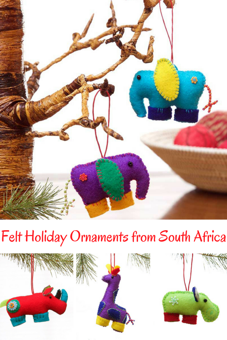 Zulu Felt Holiday Christmas Ornaments From South Africa African Christmas Fair Trade Holiday Holiday