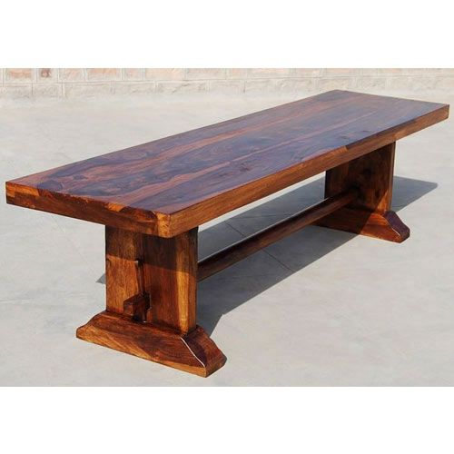Louvre Rustic Solid Wood Indoor Wooden Bench | Indoor wooden benches ...