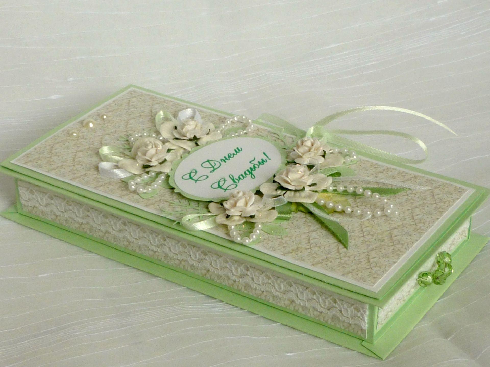 Как сделать свадебную открытку коробочку