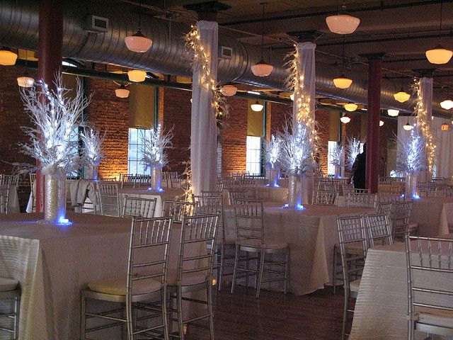 Wedding lighting & centerpieces at Chester\'s Bell Tower in ...