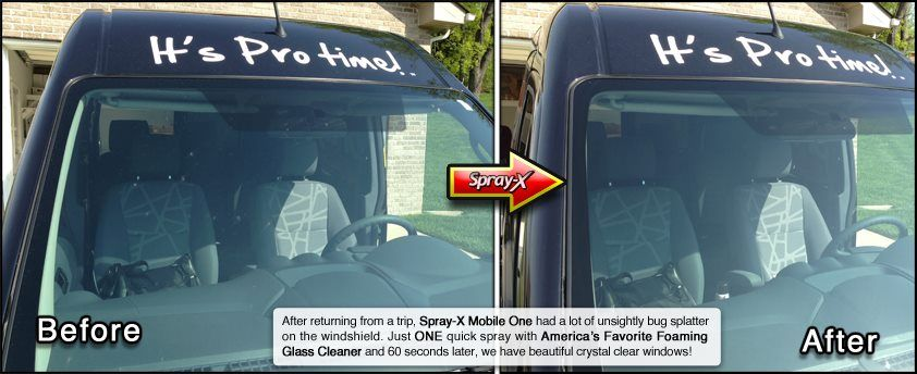 Before And After Cleaning Your Car Windshield With America S Favorite Foaming Glass Cleaner Glass Cleaner Cleaning Car Windows Clean Your Car