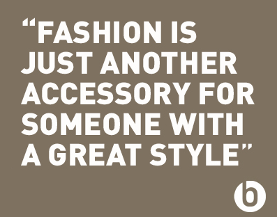 Inspiring fashion quote