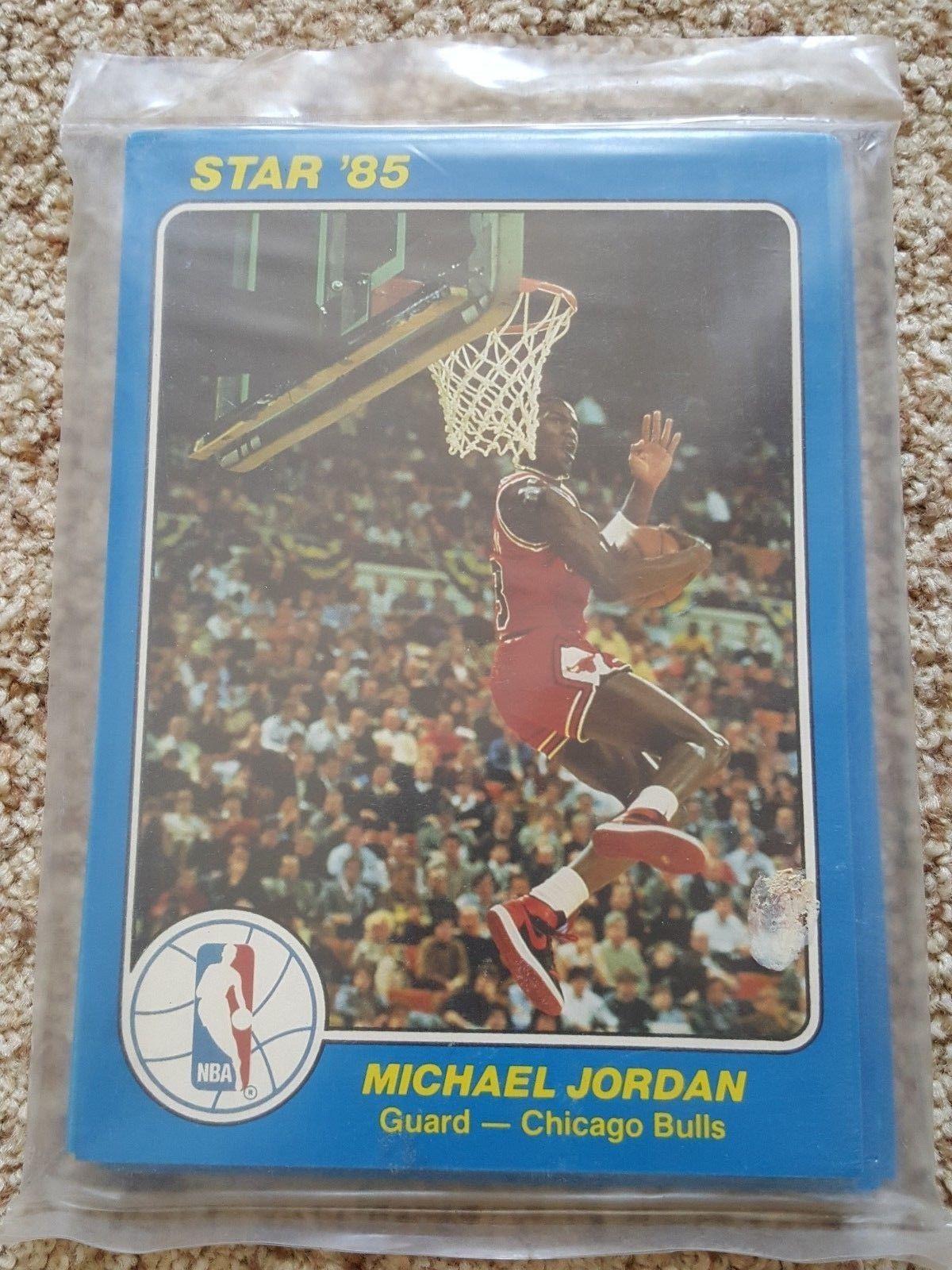 1985 nba court kings basketball oversized card set jordan