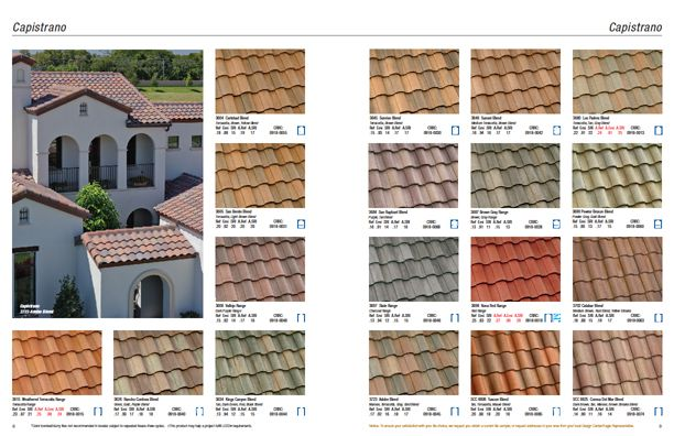 Capistrano Collection Not All Colors And Profiles Available In
