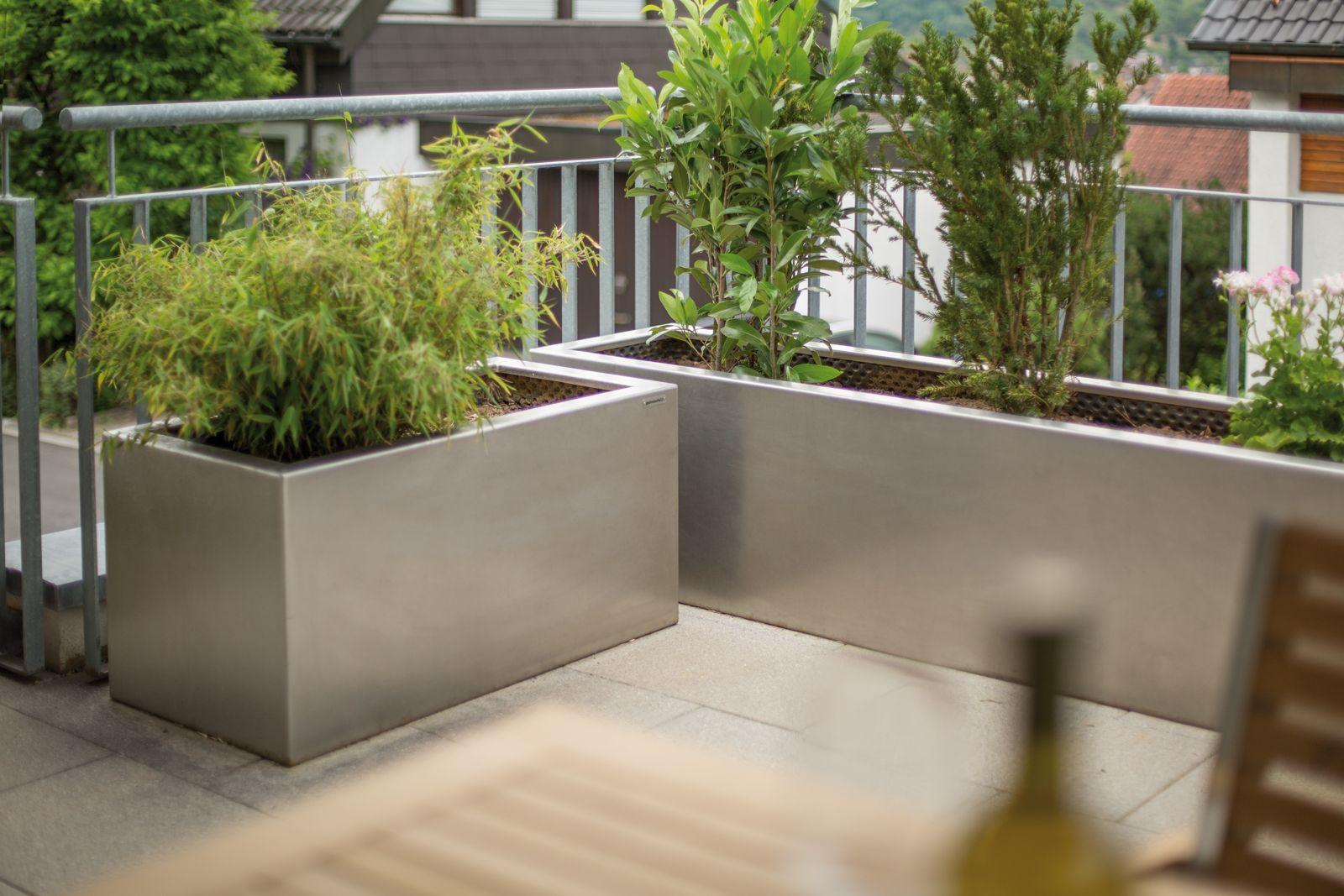 Terresta Pflanztrog Aus Edelstahl V4a Rotex Geschliffen Nach Muster Garten Hochbeet Gartengestaltung Hochbeet