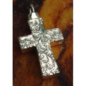 Etched Cross Cremation Pendant Silver $119.99 only buy now.