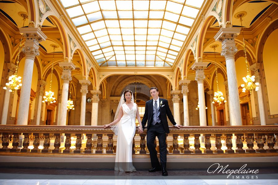 Jamie Steven Indiana Statehouse Wedding Megelaine Images Indianapolis Photographer