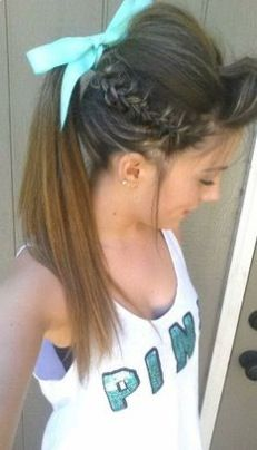 Cute cheer hairstyle!