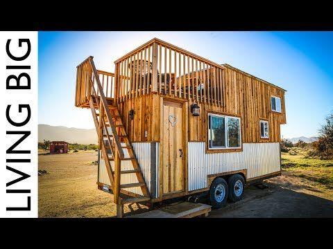 14) Tiny House With Amazing Rooftop Balcony - YouTube   Small ...