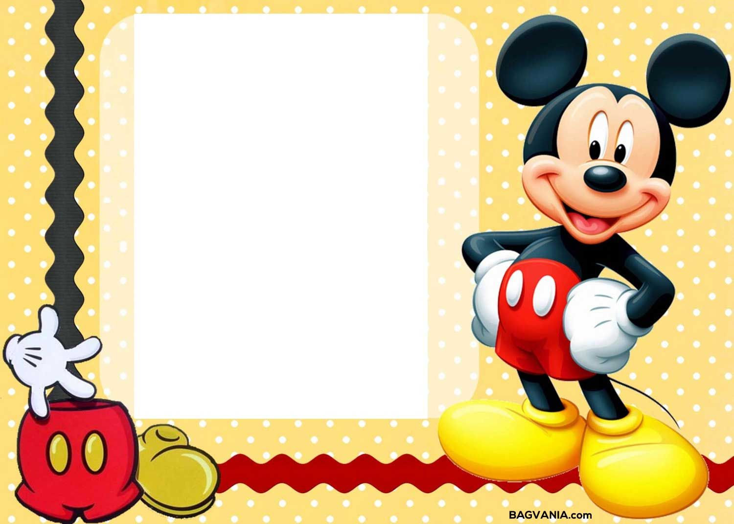 Cool Free Printable Mickey Mouse Birthday Invitations | FREE ...