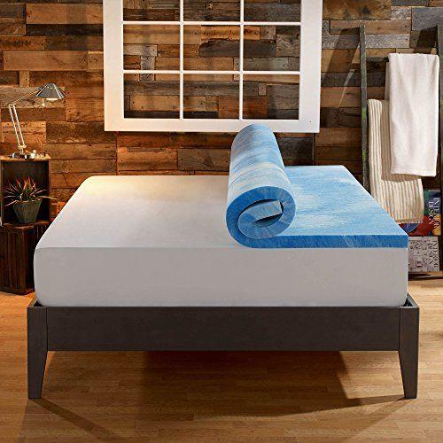 Sleep Innovations 4 Inch Dual Layer Mattress Topper Gel Memory