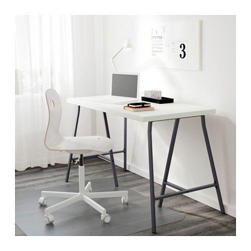 Linnmon Lerberg Table White Gray 47 1 4x23 5 8 Ikea In 2020 Home Office Design Home Office Layouts Home Office Accessories