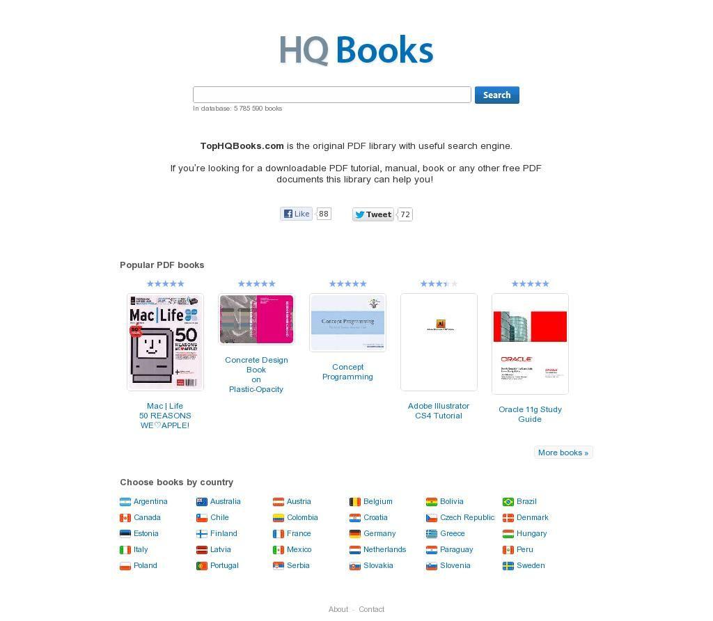The website 'http://tophqbooks.com/' courtesy of Pinstamatic (http://pinstamatic.com)