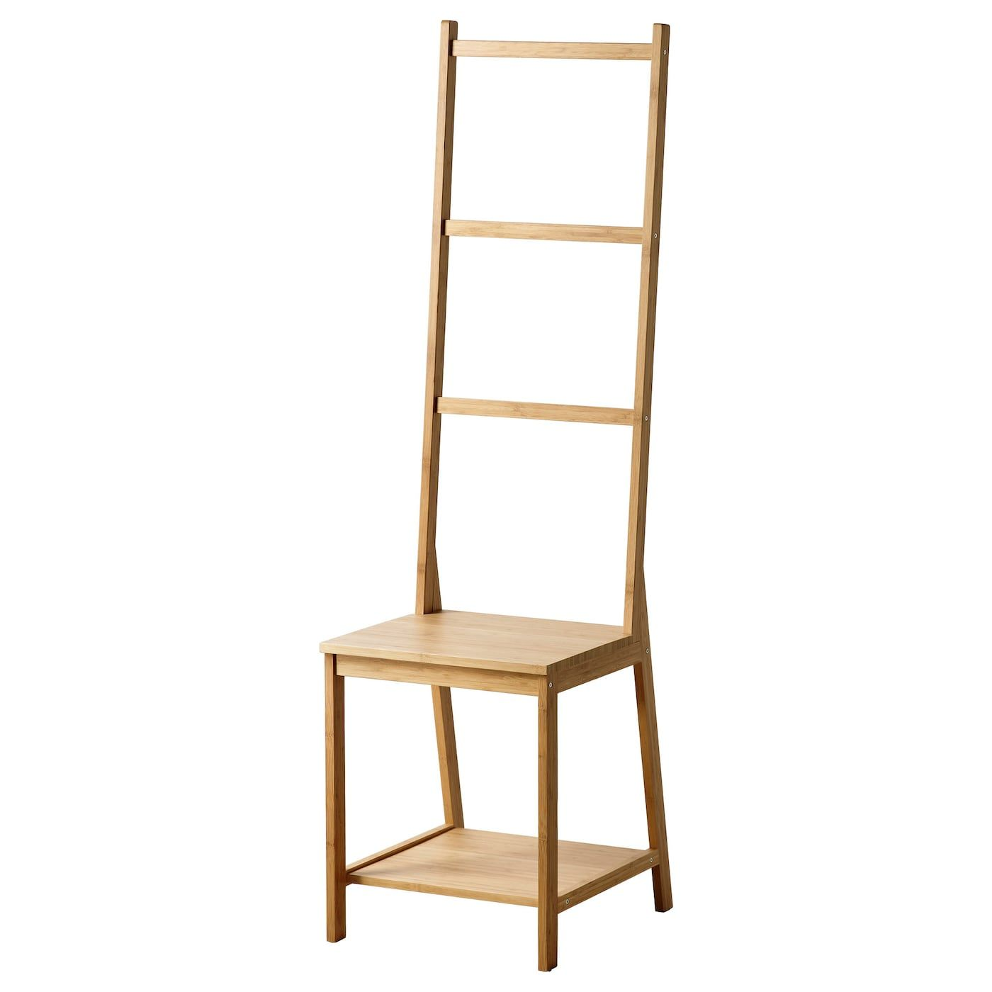 Ragrund Chaise Porte Serviettes Bambou Accessoires Salle De