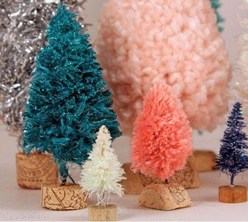 Faire De Petits Sapins De Noël En Laine Ou En Guirlandes | Idées