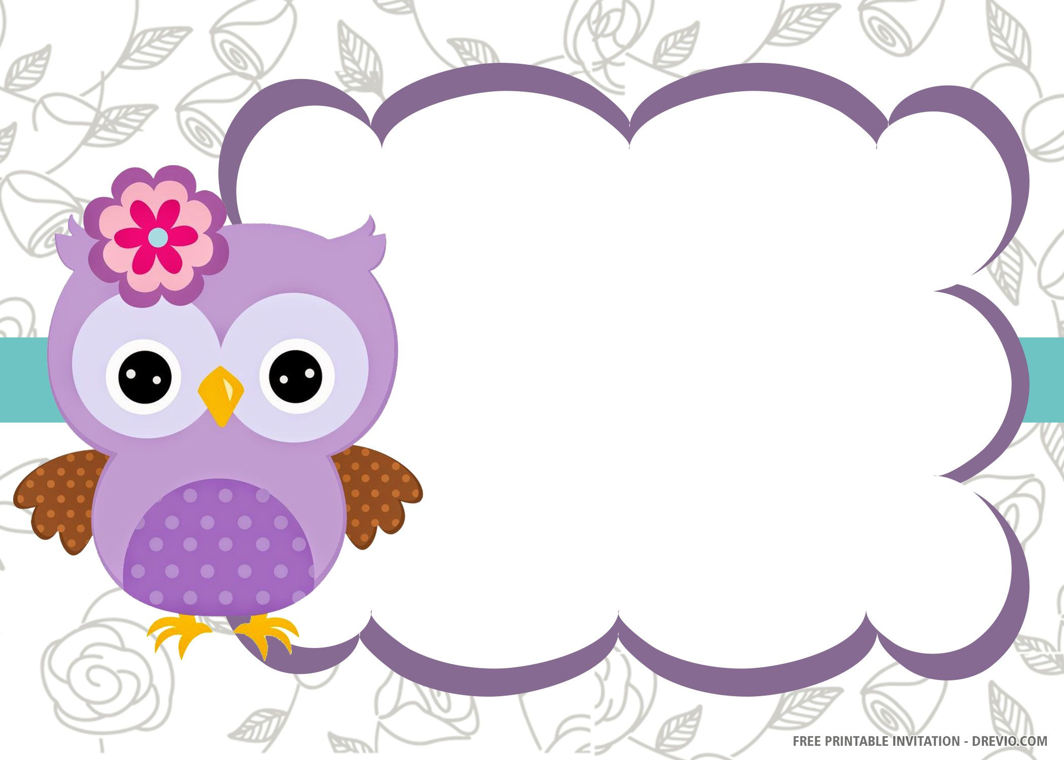 Free Printable Owl Invitation Templates Drevio In 2020 Owl Invitations Free Printable Birthday Invitations Printable Birthday Invitations