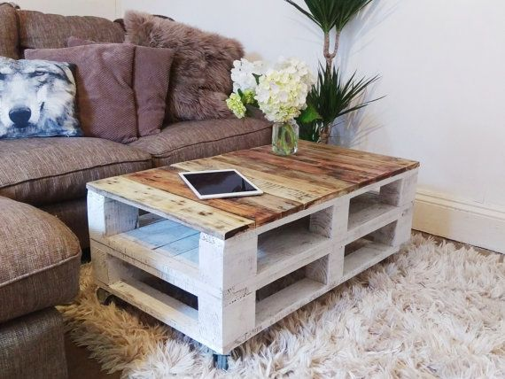 coffee table reclaimed wood lemmik in farmhouse style unique rustic industrial pallet table. Black Bedroom Furniture Sets. Home Design Ideas