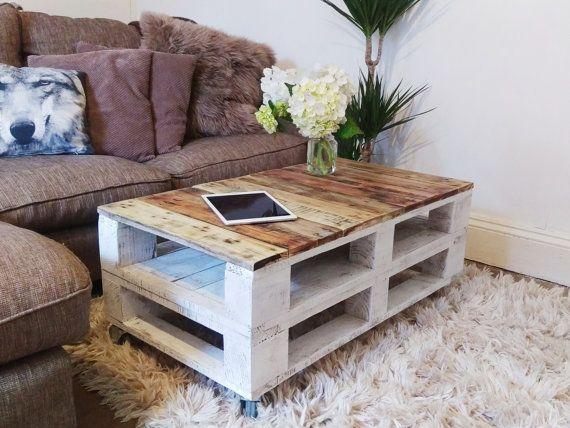 LEMMIK Pallet Coffee Table - Farmhouse table Style, Rustic - garten lounge mobel holz