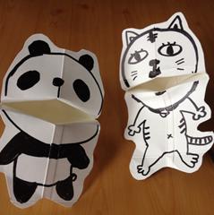Photo of 牛乳パックのパクパク人形の作り方