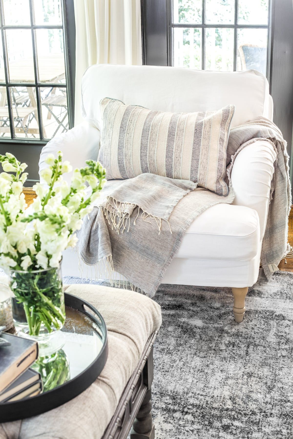 New Slipcovers For The Ikea Living Room Furniture Bless Er House Ikea Living Room Furniture Ikea Living Room Ikea Living Room Chairs #slipcovered #living #room #sets