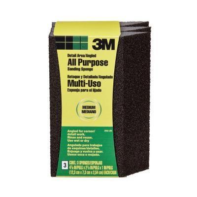 3m 2 7 8 In X 4 7 8 In Medium Grit Single Angled Sanding Sponge 3 Pack Case Of 6 Cp041 3pk Sanding Sponges Paint Your House Ceiling Texture
