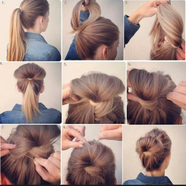 A Two Minute Easy To Make Messy But Yet Tidy Bun Coiffure Coiffure Et Beaute Cheveux