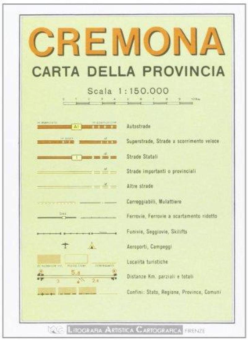 Cremona Province, Italy by Litografia Artistica Cartografica