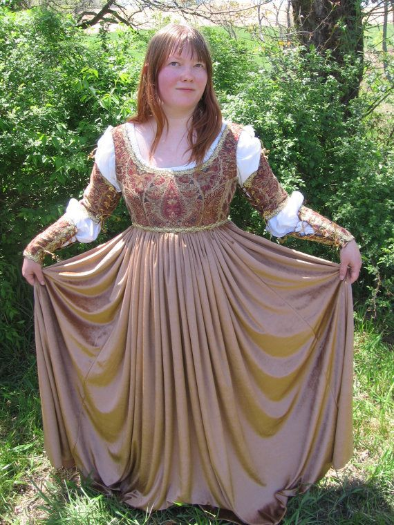 Golden Autumn Italian Renaissance Gown by DomenicasFineFashion ...